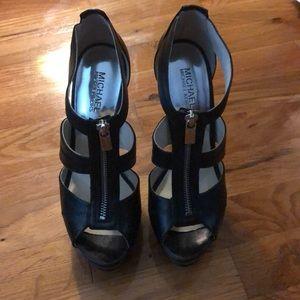 Black MK 6 inch heels